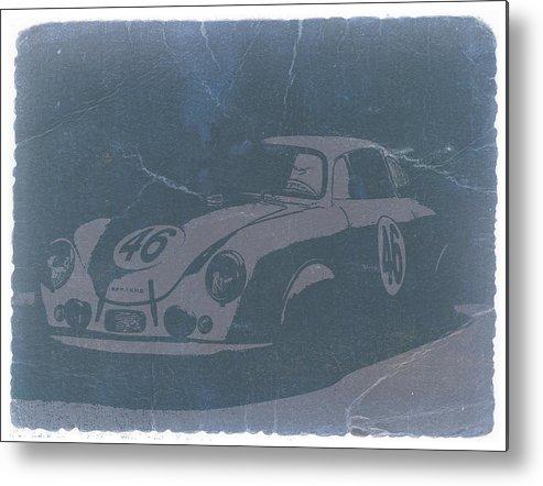 Porsche 356 Coupe Front Metal Print featuring the photograph Porsche 356 Coupe Front by Naxart Studio