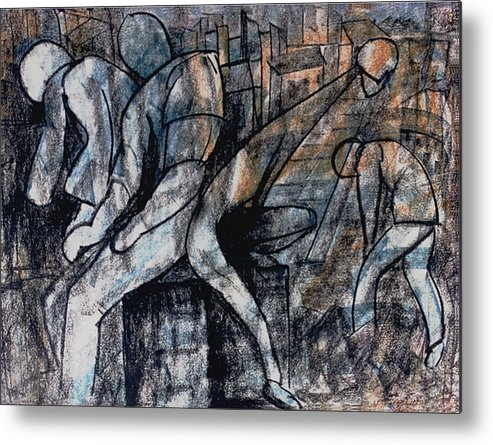 Art Metal Print featuring the drawing Post-modern Haste by Mushtaq Bhat