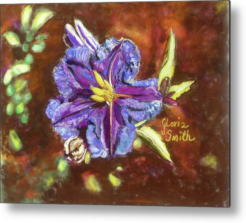 Cactus Flower Metal Print featuring the pastel Purple Cactus Flower by Gloria Smith