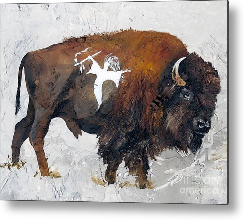 Southwest Art Metal Print featuring the painting Sacred Gift by J W Baker