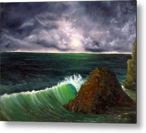 Sea Metal Print featuring the painting Sea Shine by Catfish Lawrence