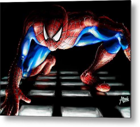 Spider Metal Print featuring the digital art Spidey by Alvin Goh