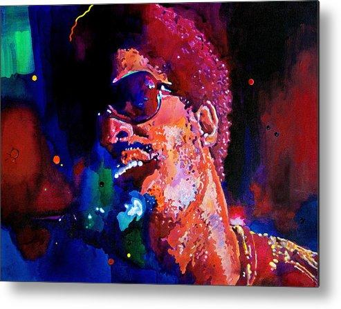 Stevie Wonder Metal Print featuring the painting Stevie Wonder by David Lloyd Glover