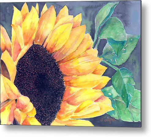 Sunflower Metal Print featuring the painting Sunflower by Arline Wagner