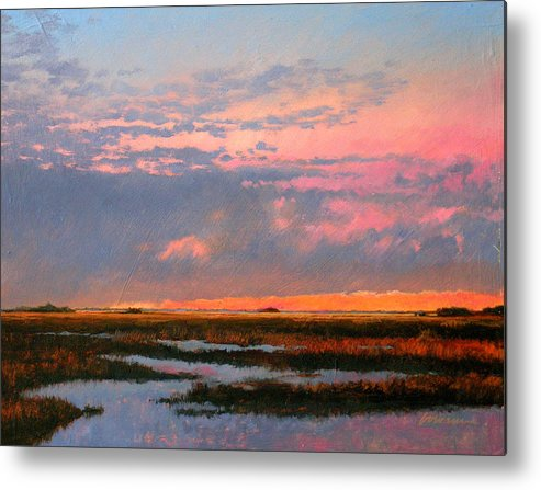 Marsh Metal Print featuring the painting The Marsh by Gary Gowans