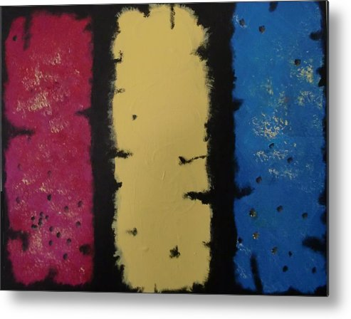 Acrylic Metal Print featuring the painting Three Amigos by Gousalya Siva