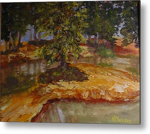 Landscape Metal Print featuring the painting Wylie's Island by Helen Musser