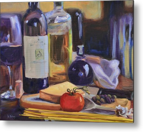 Italy Metal Print featuring the painting Italian Kitchen by Donna Tuten