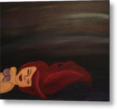 Disney Metal Print featuring the painting Little Mermaid by Oasis Tone