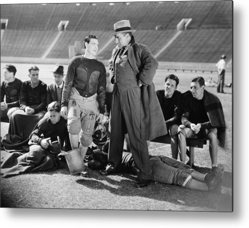-sports- Metal Print featuring the photograph Silent Film Still: Sports by Granger