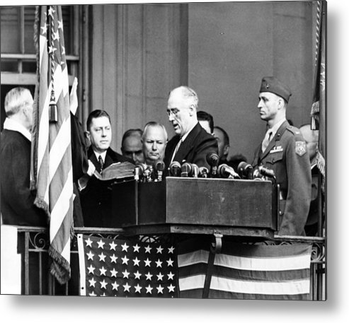 1940s Candid Metal Print featuring the photograph President Franklin D. Roosevelt by Everett
