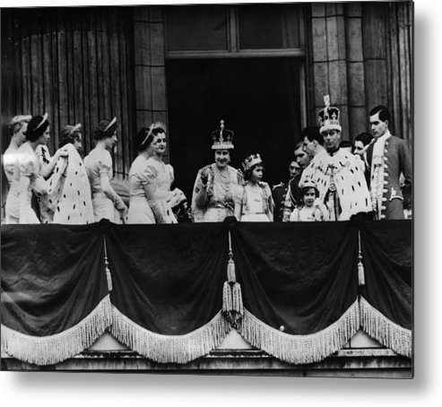 1930s Metal Print featuring the photograph British Royal Family. From Center, L-r by Everett