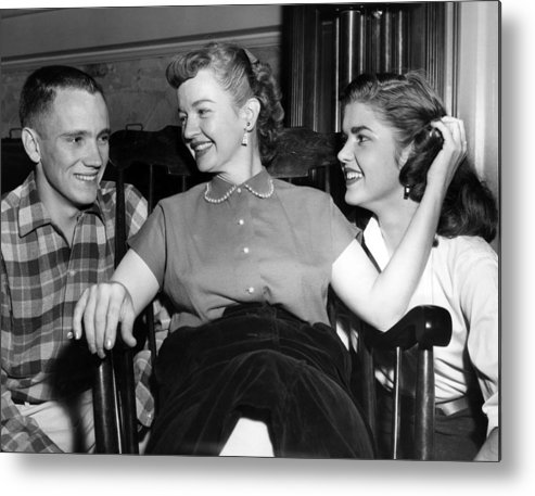 1950s Candids Metal Print featuring the photograph William Rose Left, Fiance Of Cheryl by Everett