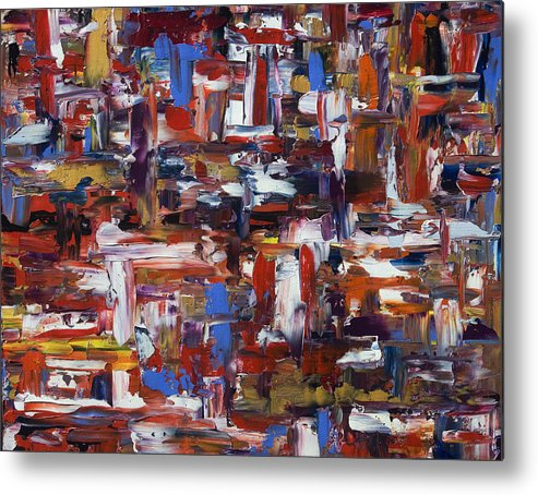 Abstract Metal Print featuring the painting Abstract 28965 by Brad Rickerby