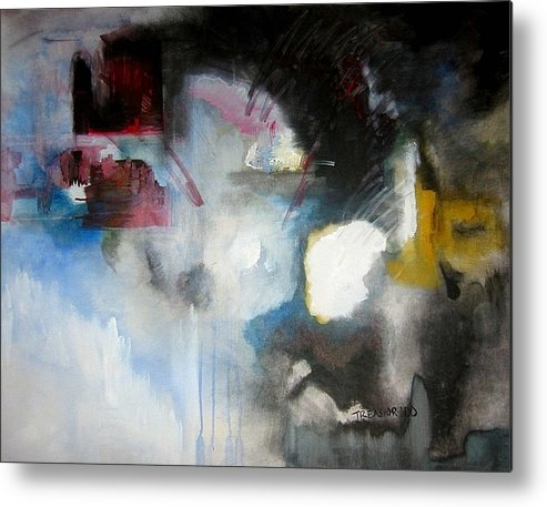 Abstract Metal Print featuring the painting Abstract No 5 by Halle Treanor