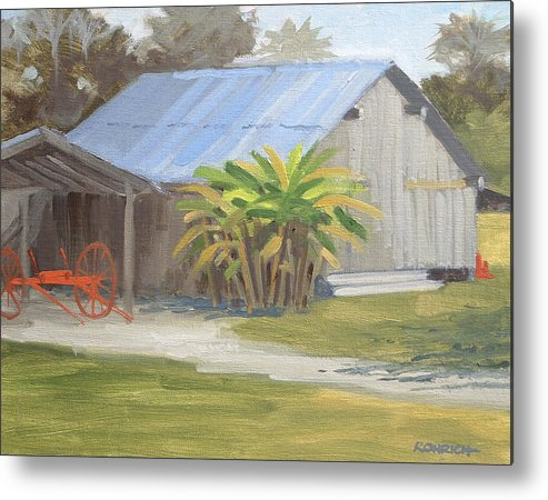 Barn Metal Print featuring the painting Barberville Barn by Robert Rohrich