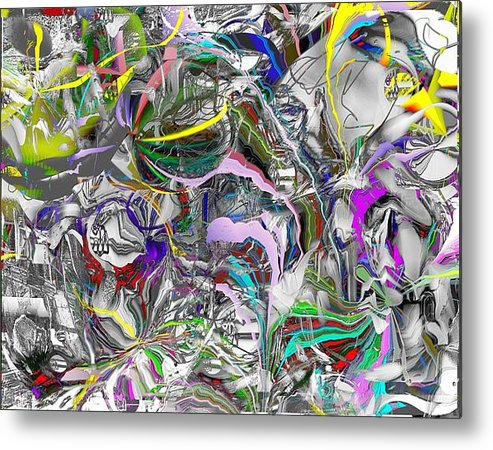 Abstract Metal Print featuring the digital art Big Wire by Dave Kwinter
