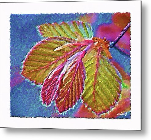 copper Beech Leaves Metal Print featuring the digital art Copper Beech Leaves by Patricia Fatta