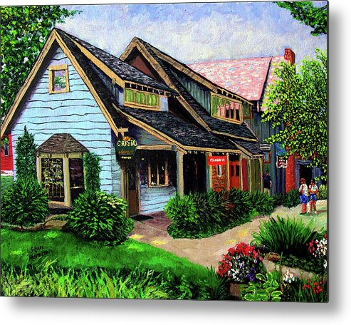 Shop Metal Print featuring the painting Crystal Source Daily Grind by Stan Hamilton