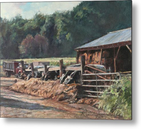Farm Metal Print featuring the painting Dinner Time by Robert Tutsky
