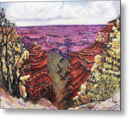 Desert Metal Print featuring the painting Escape by Suzanne Marie Leclair
