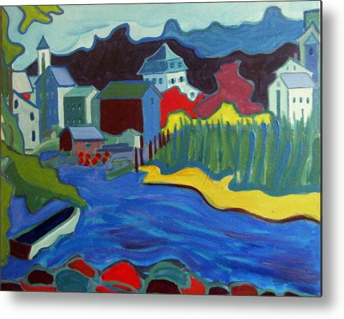 Essex River Metal Print featuring the painting Essex River by Debra Bretton Robinson