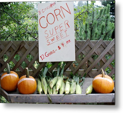 Farm Produce Metal Print featuring the photograph Farm Stand by Sonja Anderson