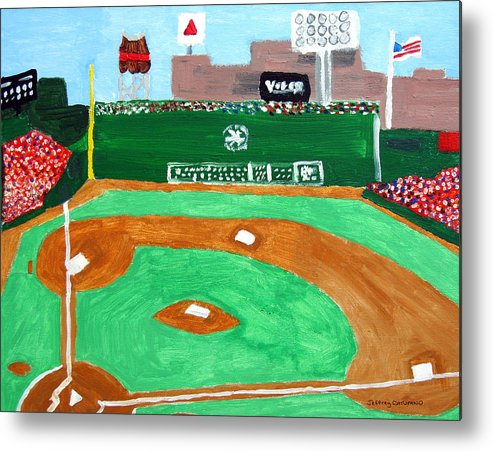 Fenway Park Metal Print featuring the painting Fenway Park by Jeff Caturano