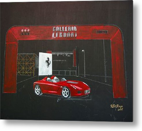 Car Metal Print featuring the painting Ferrari Pininfarina Rossa Concept by Richard Le Page