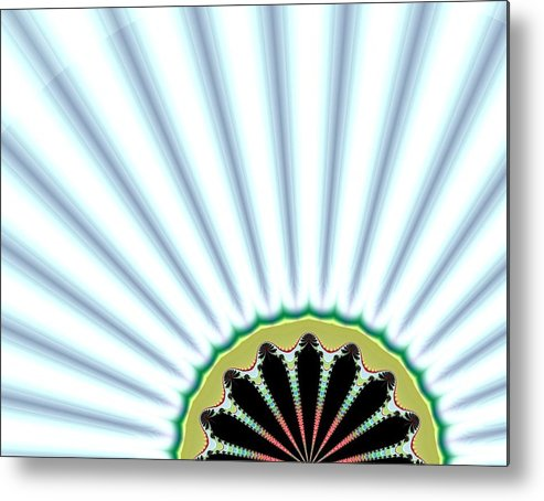 Digital Metal Print featuring the digital art Floral Breeze by Thomas Smith