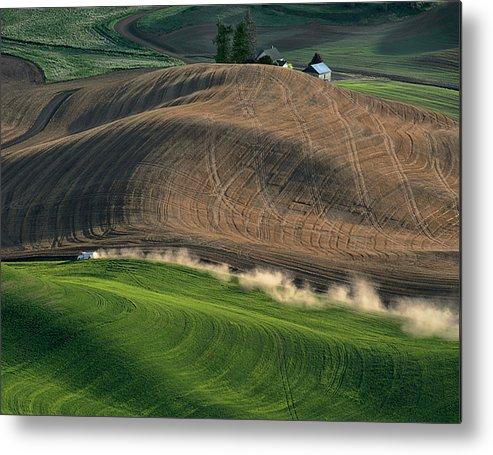 Palouse Metal Print featuring the photograph Heading Home For Dinner by Jerry McCollum