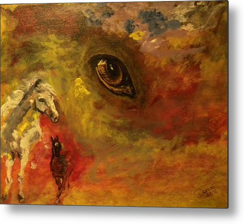 Horse Metal Print featuring the painting Horse Heaven by Denise Hills