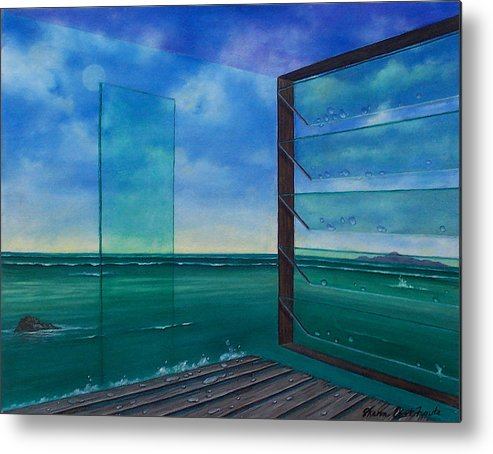 Surreal Painting Metal Print featuring the painting I Can See Clearly Now by Sharon Ebert