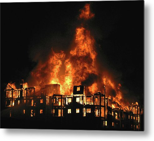 Fire Metal Print featuring the photograph Inferno by Jack Dagley