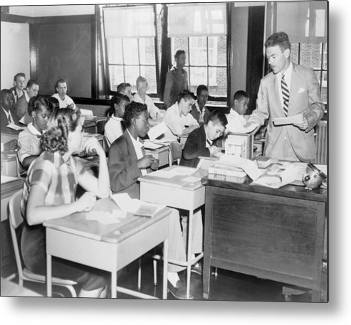 History Metal Print featuring the photograph Integrated Classroom In Washington by Everett