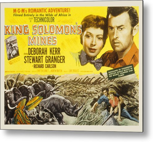 1950 Movies Metal Print featuring the photograph King Solomons Mines, Deborah Kerr by Everett