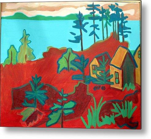Beach Metal Print featuring the painting Monhegan Hue by Debra Bretton Robinson