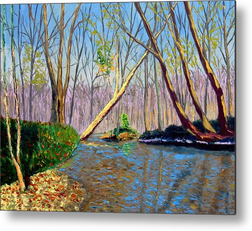 Landscape Metal Print featuring the painting Mooresville 11 2 by Stan Hamilton