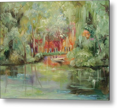 Bayou Metal Print featuring the painting On A Bayou by Ginger Concepcion