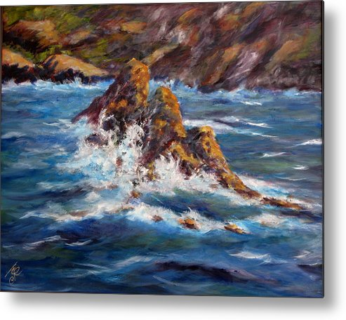 Sea Coast Metal Print featuring the painting Pacific Coast by Thomas Restifo