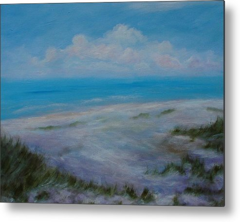 Beach Metal Print featuring the painting Panama City Beach II Colors Of The Gulf Coast by Phyllis OShields