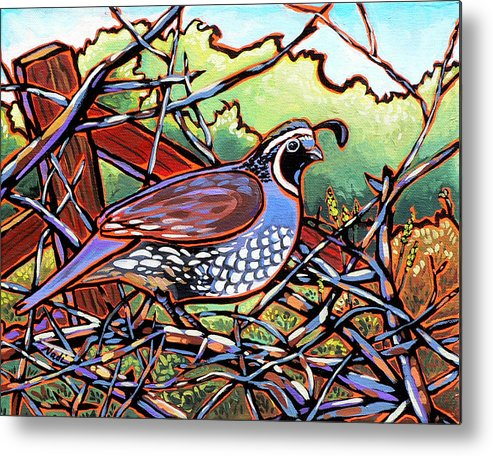 Quail Metal Print featuring the painting Quail by Nadi Spencer