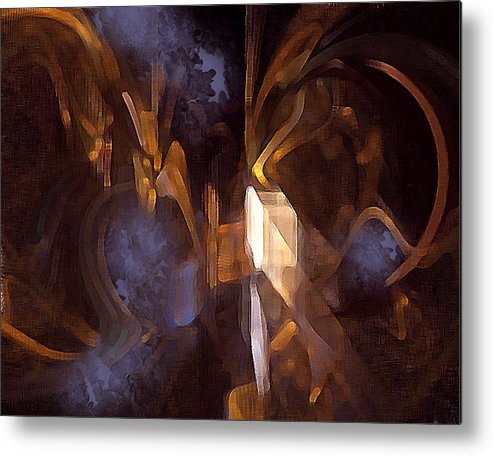 Digital Metal Print featuring the digital art Quest by Ann Tracy