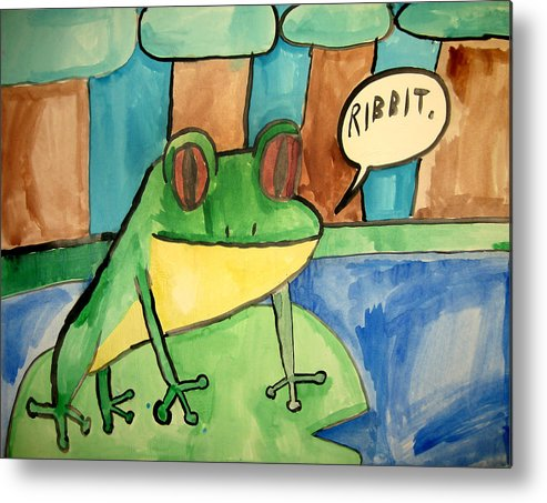 Emarc Metal Print featuring the painting Ribbit by Sean Cusack