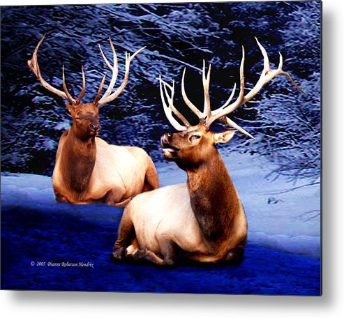 Alaska Metal Print featuring the photograph Royal Elk by Dianne Roberson