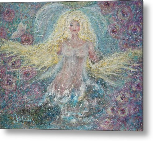 Angel Metal Print featuring the painting Secret Garden Angel 3 by Natalie Holland