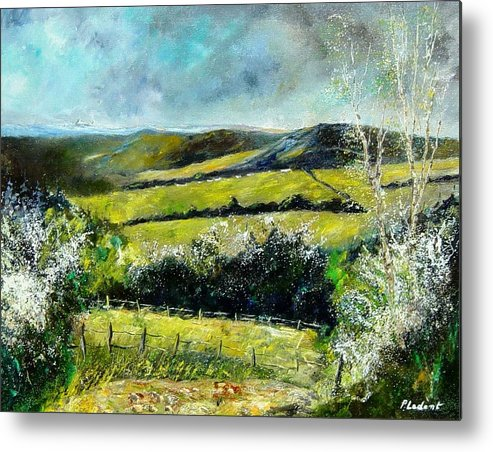 Landscape Metal Print featuring the print Spring 79 by Pol Ledent
