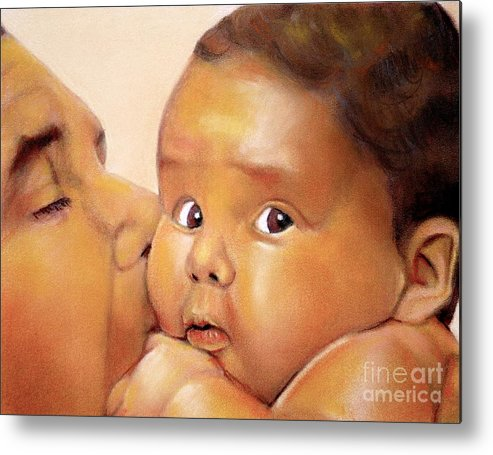 Those Eyes Metal Print featuring the pastel Those Eyes by Curtis James