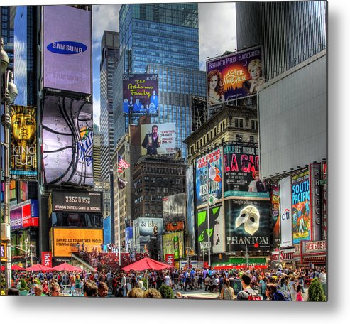 In Focus Metal Print featuring the photograph Times Square by Joe Paniccia