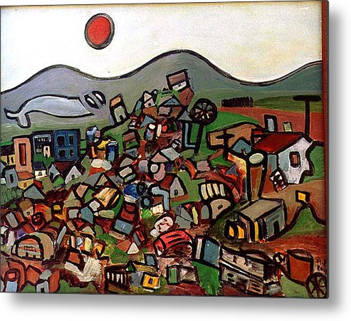Montain Metal Print featuring the painting Trash Montain by Michael Keogh